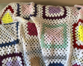 Crochet Quilted Blanket