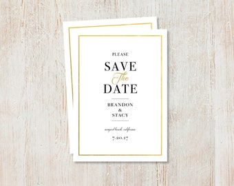 Save the Dates - Gold Foil