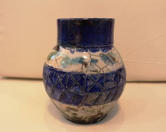 Beautiful Raku Pottery Vase