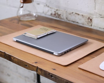 Leather Desk Pad - Heavyweight Natural Veg Tan
