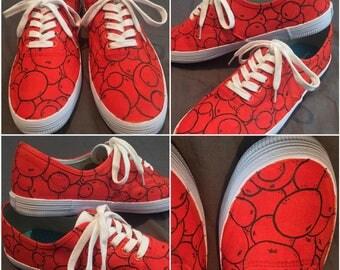 "Custom painted shoes! ""Orange You Glad?"" (toms, keds, vans, canvas)"