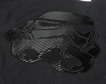 Star Wars T-Shirt - Storm Trooper Helmet Print On Cotton Shirt, Black, White, Blue, Red, Green, Heather Grey Mens Top - Custom Urban Wear UK