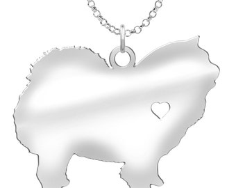 Chow Chow Necklace | Solid Sterling Silver | Chow Chow Silhouette Charm | Personalized Dog Jewelry | Chow Chow Earrings