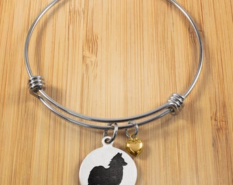 Papillon Bracelet | Stainless Steel Adjustable Bangle Bracelets | Dog Bracelets | Dog Jewelry