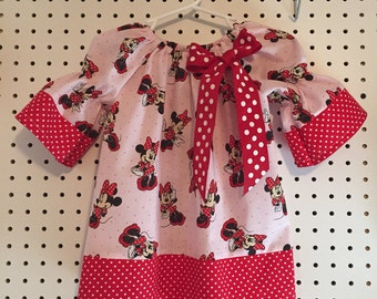 Light pink and red Minnie Mouse dress  - 18-24 months