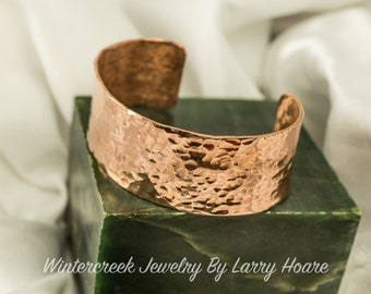 Handmade Hammered Copper Cuff Bracelet