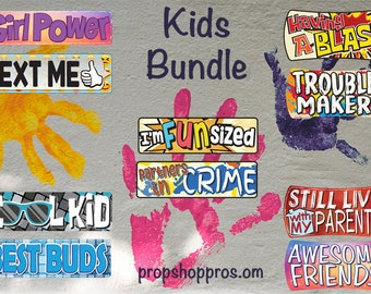 Kids Friendly Photo Booth Signs   School Signs   Photo Booth Props   Prop Signs