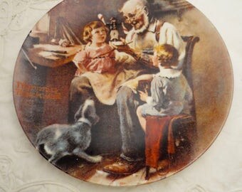 Vintage Norman Rockwell Collector's Plate - The Toy Maker - Vintage Collectible