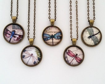 Vintage Dragonfly Collection, Silver or bronze