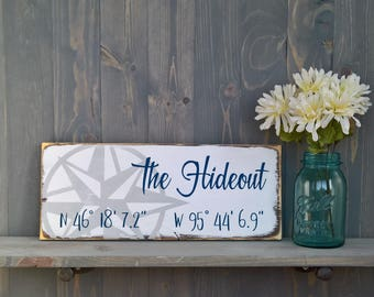 New home sign - housewarming gift personalized - GPS coordinates gift - home sweet home sign - new home housewarming gift - perfect gift
