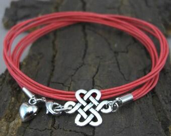 Celtic knot silver bracelet