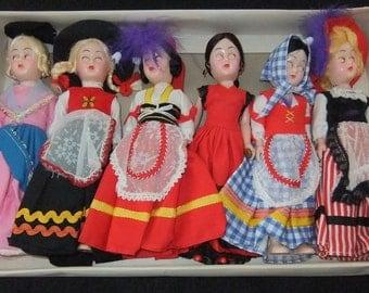 Codeg National Beautie vintage Dolls Set boxed