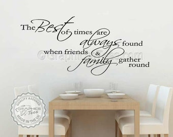 Best Of Times Inspirational Family Wall Sticker Quote Kitchen Dining Room Decor Decal