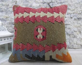 antique turkish kilim rug pillow cover kilim pillow 14 x 14 kilim lumbar pillow decorative boho pillow ethnic pillow throw pillow