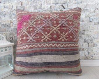 kilim cushion pillow 14x14 embroidery pillow turkey pillow bohemian pillow vintage bedding morocco floor pillow 14x14 kilim pillows
