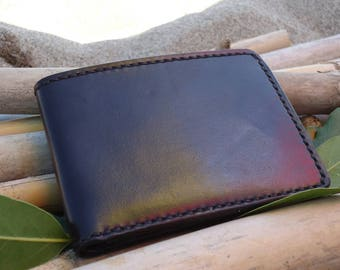 Small leather wallet/ID wallet/wfront pocket leather wallet/mini leather wallet/cardholder.Picolo portafoglio in pelle,кошелек.