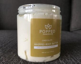 Body Butter, Handmade, Whipped, Cocoa Butter, Mango Butter, Kokum Butter, Shea Butter, Sweet Almond Oil, Coconut Oil, Set of three 6 oz jars