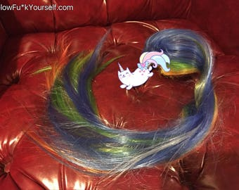 Unicorn tail rainbow butt plug, lights up, changes colors, makes dreams come true! Magic fairy kissess, kinky mlp pony play mature