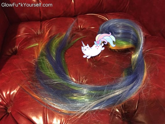Unicorn Tail Rainbow Butt Plug Lights Up Changes Colors