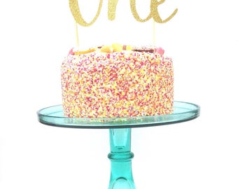 Cake Topper, First Birthday Cake Topper, One cake topper, first birthday cake decoration, glitter cake decoration, glitter cake topper
