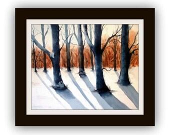 Watercolour - Forest - Original - 30x40 cm