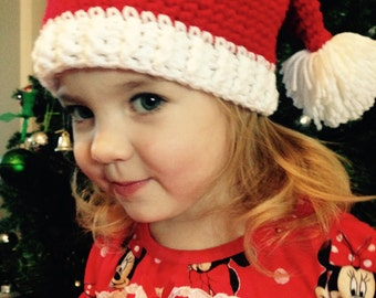 Santa hat, Christmas hat, crochet, Christmas, all ages, baby, kids, adult