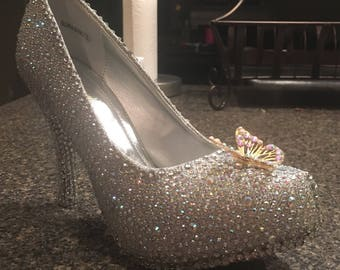 Custom-Made Cinderella-Inspired Glass Slippers