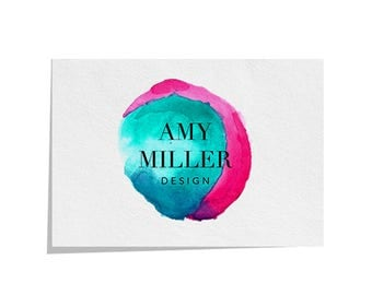 Pre made logo design | Watercolour logo | Predesigned logo | Branding | Logo design