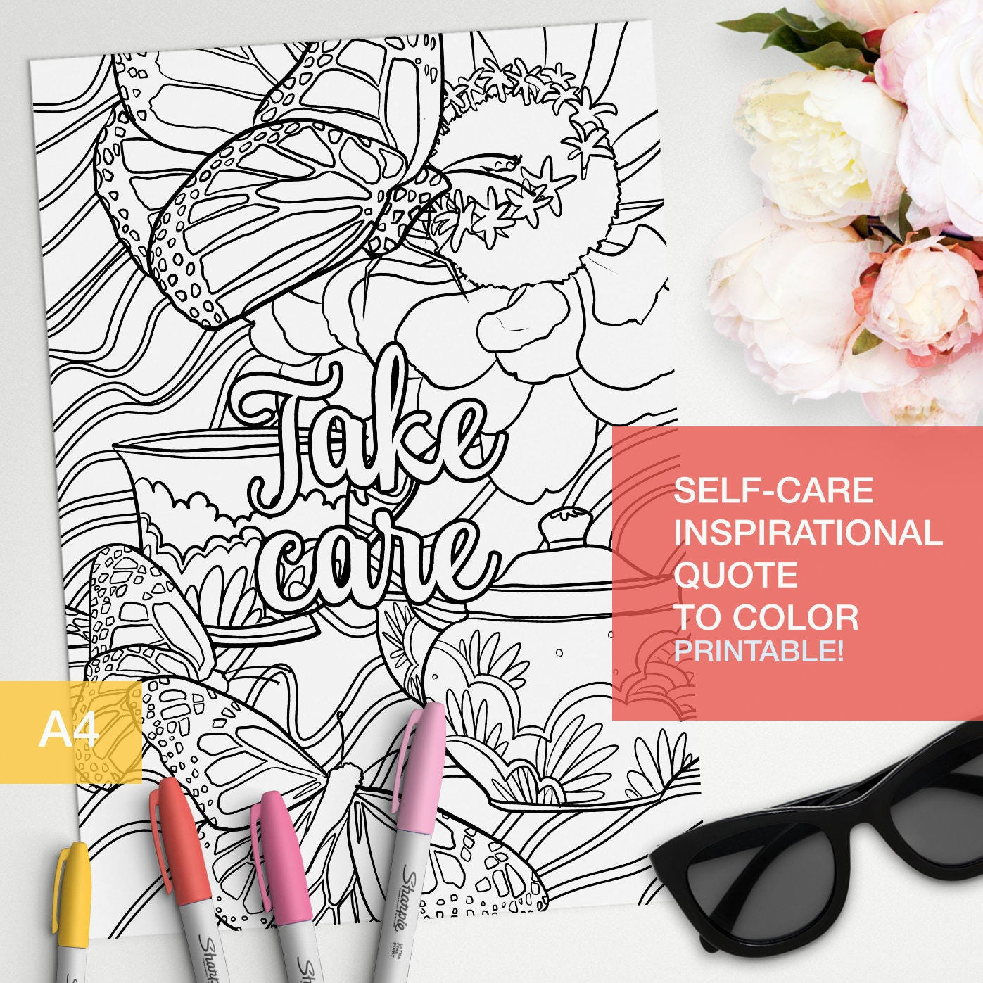 Good Vibes Only Coloring Quotes Printable