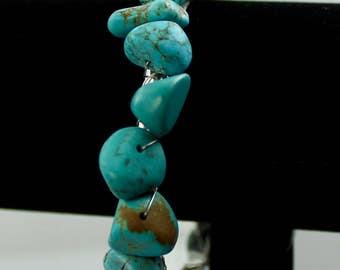 Large Chunk Semi Precious Turquoise Bangle