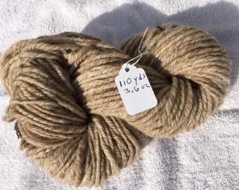 Natural color Shetland wool yarn 110 yards