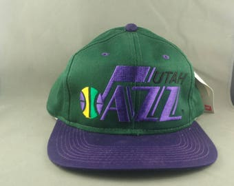 Utah Jazz Hat (VTG) - By Sports Specialties- Snapback- New with Tags