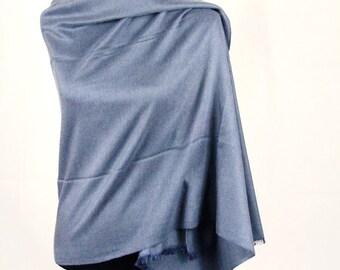 Cashmere Scarf Silk Pashmina Dark Grey Shawl/ Cashmere Pashmina Scarf/ Cashmere Pashmina Wrap/ Cashmere Bridesmaid Shawl / Travel Blanket