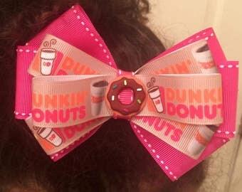 Dunkin' Donuts Hair Clip Bow