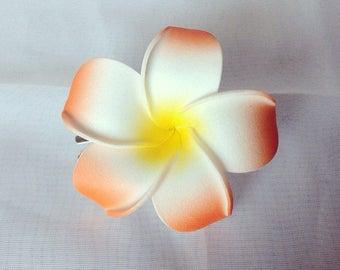 Foam Plumeria Hair Clip - Girls - Spring - Summer - Kids - Island - Tropical Flower - Luau - Wedding - Hair Accessory - Cute - Hula