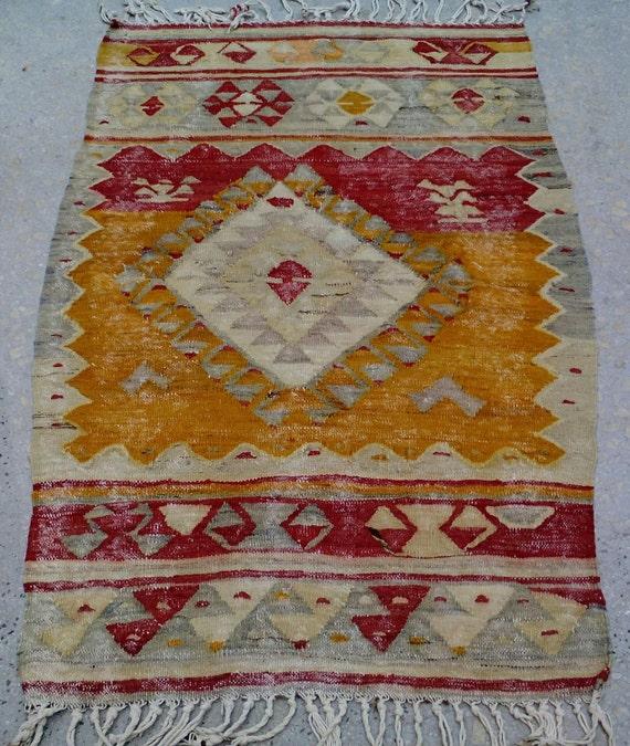 Turkish Rug, Pastel Color Rug , Ethnic Kilim Rug,Vintage