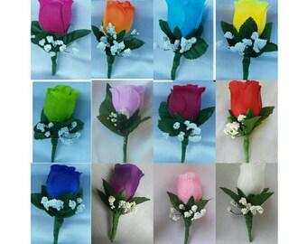 Boutonniere Groomsmen Boutonniere Men Boutonniere Wedding Boutonniere Silk Rose Flower Boutonniere Rose boutonnieres Party Boutonnieres