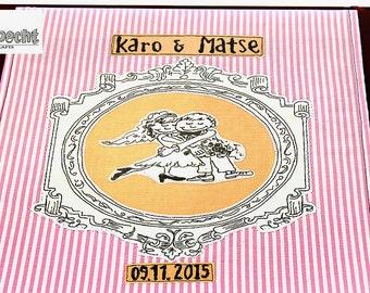 alternative weddingalbum, photo album vintage-style, wedding-album handmade style, Jumbo guestbook, green wedding, wedding-retro style