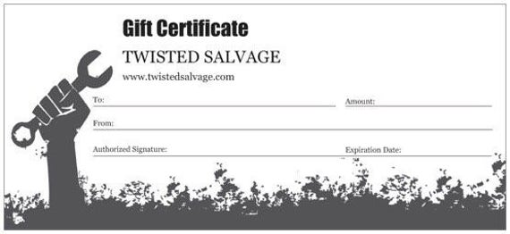 Twisted Salvage Gift Voucher