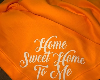 Tennessee Orange Throw Rocky Top Home sweet home to me Stadium Blanket Vols fan gear