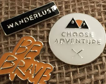 Choose Adventure Circle Enamel Pin