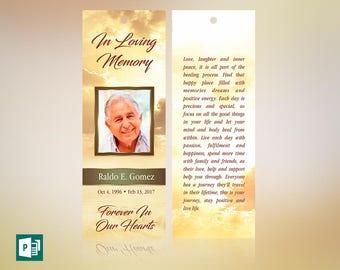Forever Memorial Bookmark Publisher Template