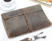 Unisex Vintage Leather 910 Tablet Case With String