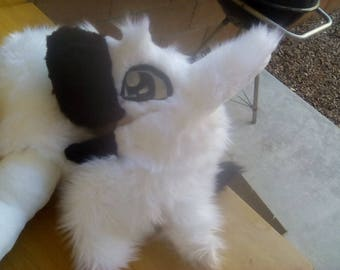 Black and White premade sergal fursuit