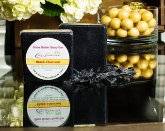 Activated Charcoal Black Soap.  Detoxifying Charcoal helps Acne, Eczema and Stretch Marks.  Made with Shea Butter  *FREE SHIPPING*!!
