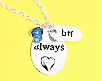 Always Friends Necklace, always charm,  Best Friend necklace, Silver Always Pendant,  Always Harry Potter,Best Friend Jewelry, bff gift