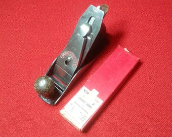 """Vintage Millers Falls No. 9C Bench Plane 9"""" Corrugated Bottom Hand Plane With 2 Extra Blades/Irons"""