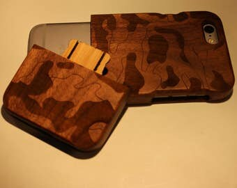 Camouflage Wooden IPhone case