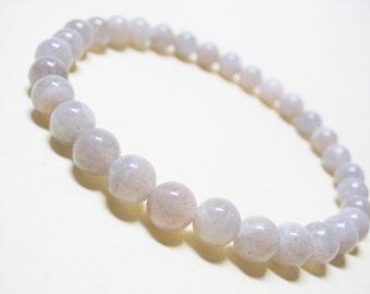 Moonstone Bracelet Fertility Bracelet Pregnancy Bracelet Wrist Mala Bracelet Yoga Bracelet Spiritual Bracelet Healing Bracelet 6mm moonstone