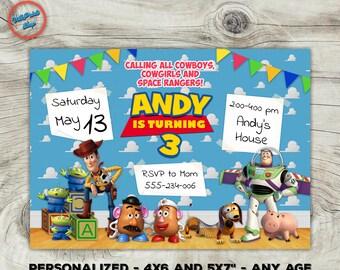 Toy Story birthday invitation, Toy Story invitation, Toy Story invite, Tory Story printable invitation! Inv#4